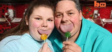 Vader en dochter hebben breedste tongen ter wereld