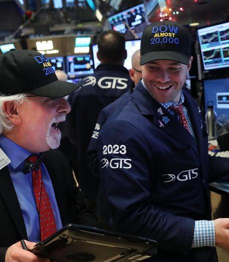 Dow Jones blijft net onder magische grens van 20.000 punten steken