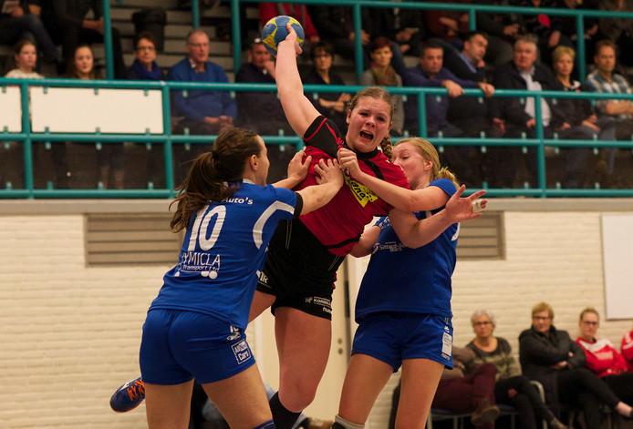 Archieffoto van de volleybalsters van Haaften Kwiek