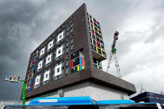 Studentencomplex Talia aan het Stationsplein in Nijmegen.