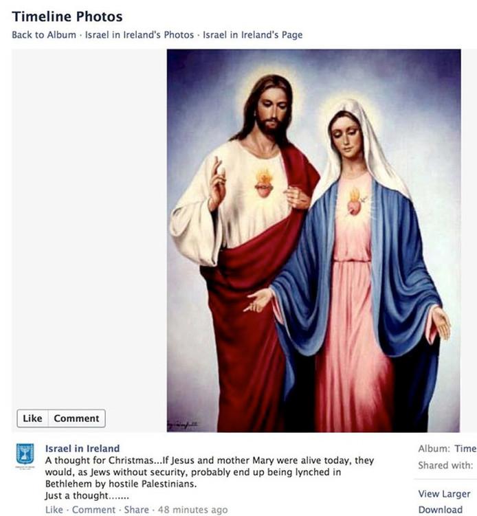 De afbeelding in kwestie, die na enkele uren offline werd gehaald.