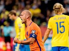Sneijder nadert mijlpaal en recordinternational Van der Sar