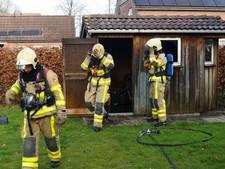 Koelkast in brand in schuurtje Lievelde