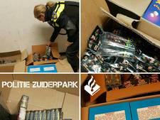 Politie Zuiderpark laat 'eerste grote vuurwerkvangst' zien