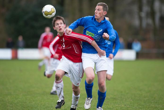 Advendo'57-speler Jaap van Doorn in een eerder duel. Archieffoto.