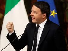 Italiaanse premier Matteo Renzi afgetreden