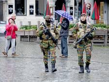 Minder militairen op Belgische straten