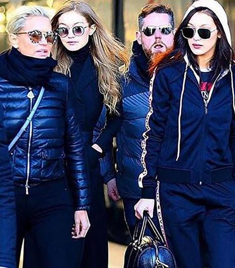 Familie Hadid pakt de trein naar Amsterdam