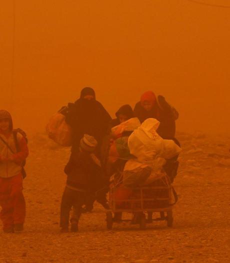 Slecht weer Mosul bedreigt inwoners, helpt IS