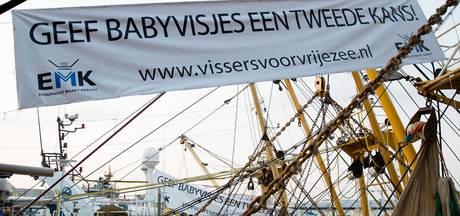 Vissers voeren actie in Rotterdam tegen aanlandplicht