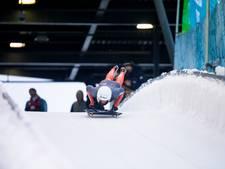 Kimberley Bos glijdt goed in de sneeuw