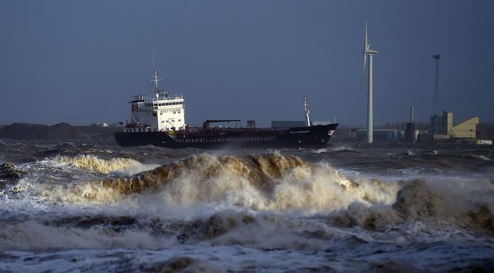 Ook in New Brighton, noordwest England, is het onrustig.