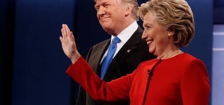 Trump en Clinton voor het eerst in debat