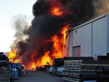 Brand in bedrijvenpand Waalwijk onder controle