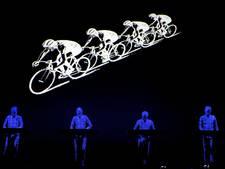 Kraftwerk treedt op bij Tourstart in Düsseldorf