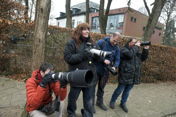 Vogelspotters in Velp. foto Gerard Burgers