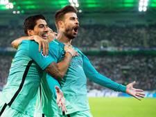 Barça wint ook zonder Messi, spektakelstuk in Glasgow
