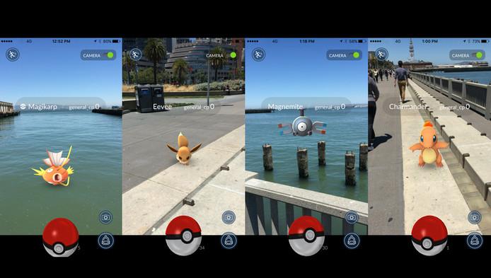 De Pokémon zijn overal te vinden.