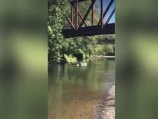 Amerikaan gooit zoontje (4) van 8 meter hoge brug