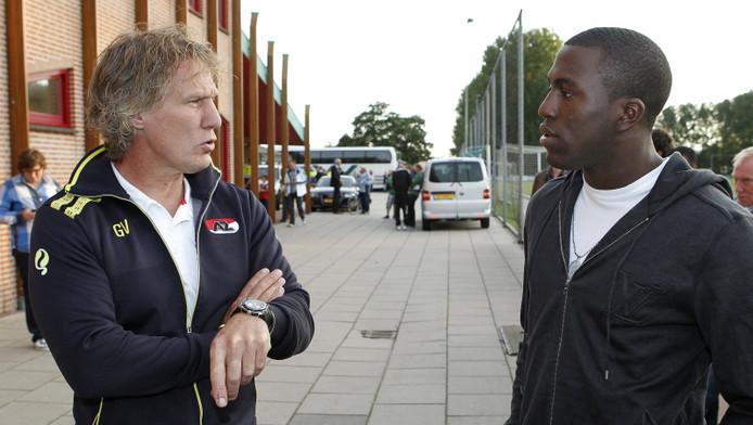 Gertjan Verbeek (links) en Jozy Altidore.