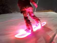 Nieuwste gadget voor op de piste: lichtgevend snowboard