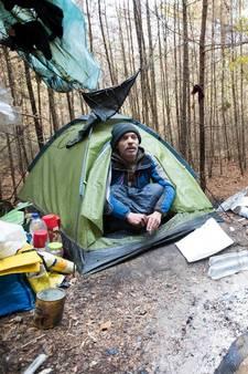 Max slaapt nog steeds in bos van Amerongen