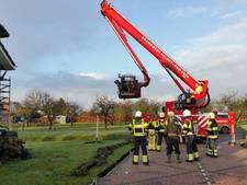 Brandweer rukt uit voor brandende schoorsteen