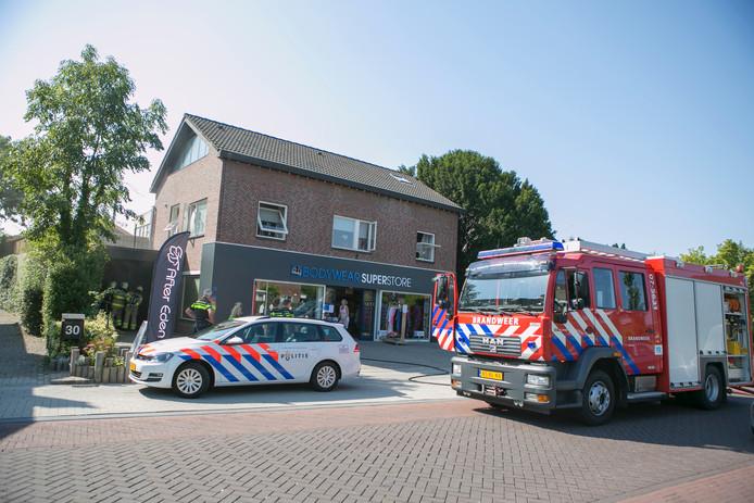 Politie en brandweer ter plaatse.