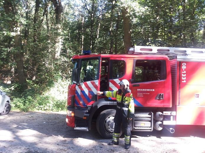 Brandweer van Ubbergen op de Duivelsberg in Berg en Dal