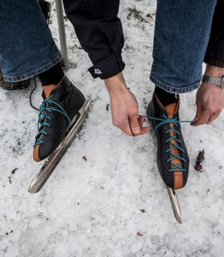 De schaatsen worden geslepen in Tiel