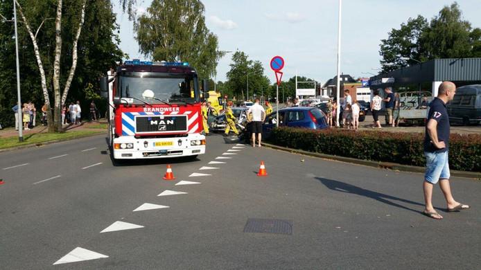 Er kwam ook een brandweerauto ter plaatse.