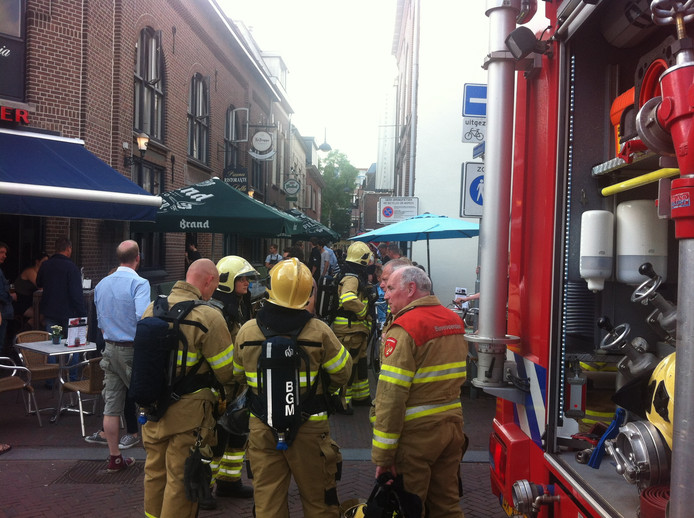 De brandweer was snel ter plaatse in het centrum van Wageningen.