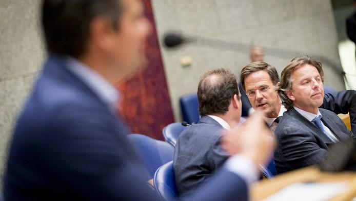 Premier Mark Rutte tijdens het debat in de Tweede Kamer.
