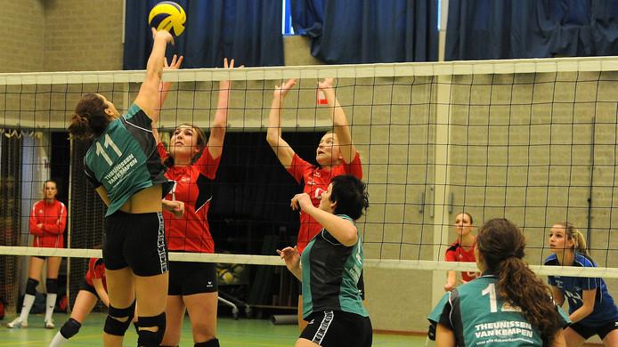 Archieffoto van de volleybalsters van Avance