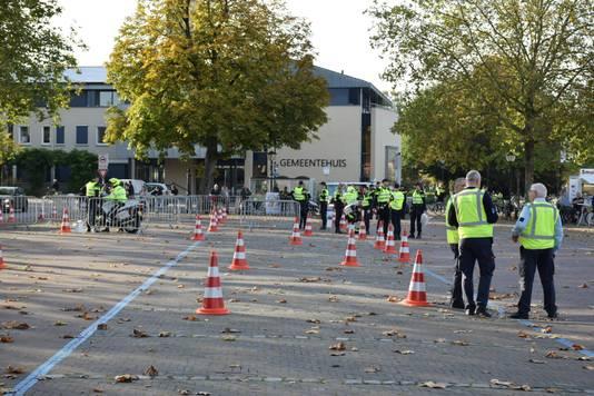 Politiecontrole in het centrum van Groesbeek