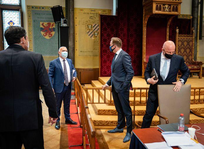 Demissionair minister Hugo de Jonge van Volksgezondheid, CDA) en demissionair minister Ferdinand Grapperhaus van Justitie en Veiligheid (CDA).