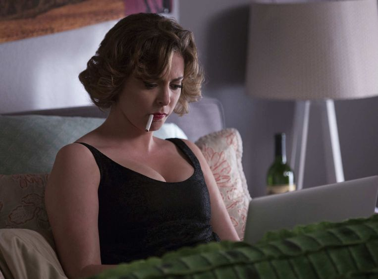 De depressieve en angstige Rebecca in Crazy Ex-Girlfriend. Beeld kos
