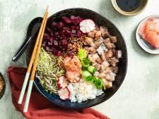 Wat Eten We Vandaag: Pokébowl met haring en biet