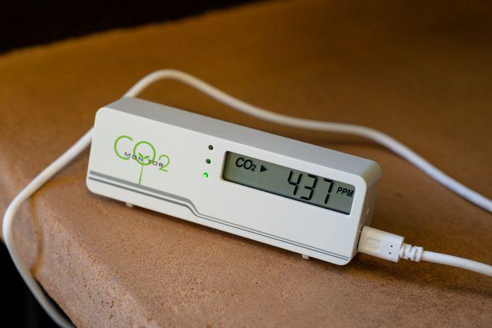 Een illustratiebeeld van een CO2-meter.