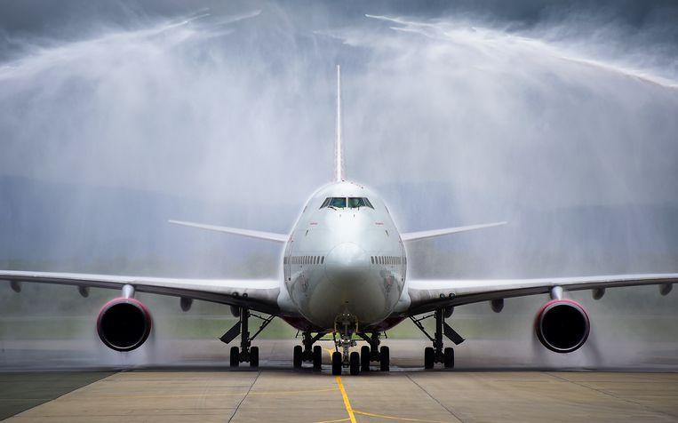 Boeing 747 in Vladivostok. Beeld TASS via Getty Images