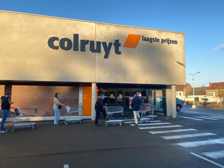 Het Colruyt-filiaal in Nossegem. Het coronavirus heeft een grote impact op de financiële gezondheid van Colruyt Group. Beeld Dieter Nijs