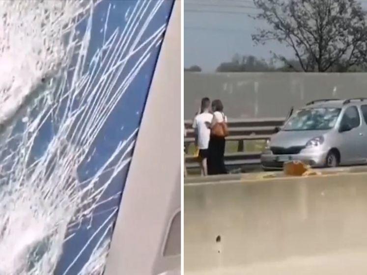 Gigantische hagelstenen slopen auto's in Noord-Italië