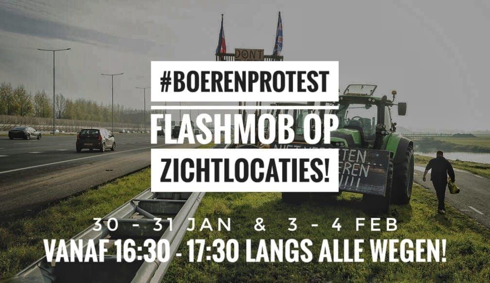 De boeren gaan publieksvriendelijke acties houden bij de op- en afritten van de snelwegen.