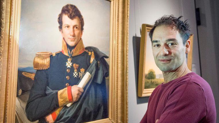 Een portret van Johannes van den Bosch, die acteur Dragan Bakema vertolkt in Het Pauperparadijs. Beeld Patrick van Emst