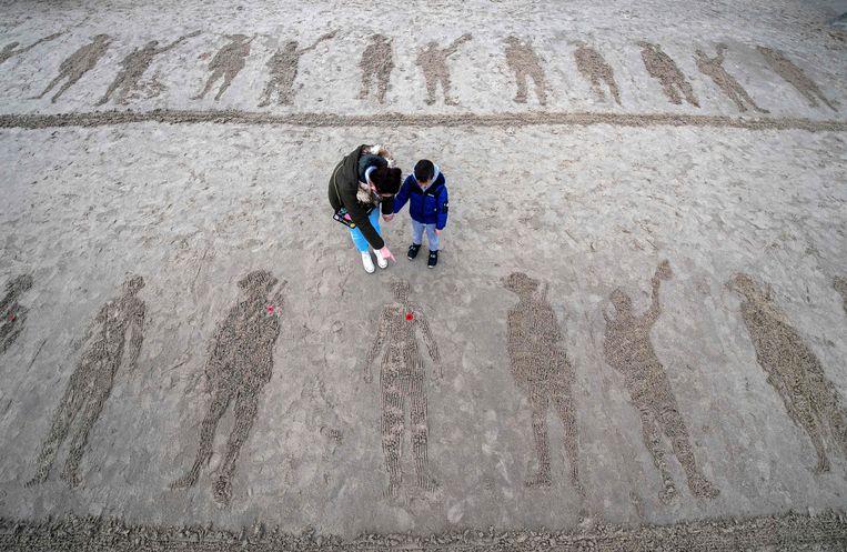 Herdenking van de Eerste Wereldoorlog in Folkestone. Beeld AFP