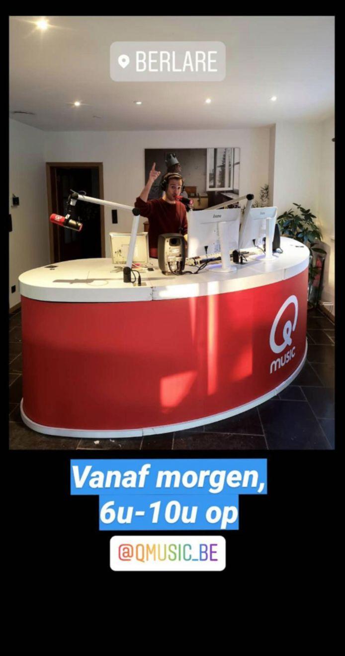 Sam De Bruyn nam de hele studio mee naar huis.