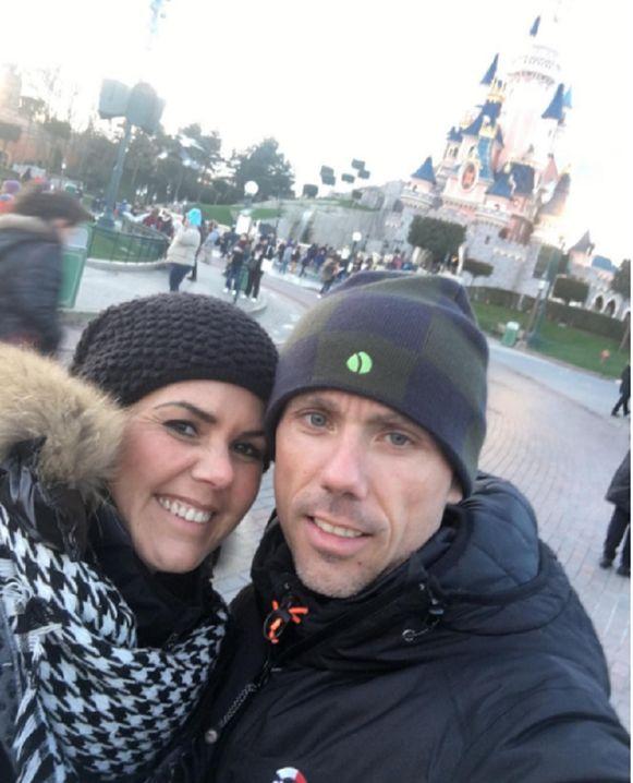 Sven Nys trok met zijn vriendin Ann Van den Eynde naar Disneyland in Parijs.