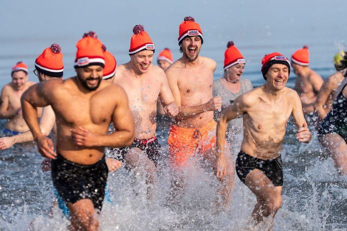 Swim to Fight Cancer, de nieuwjaarsdageditie in 2020.