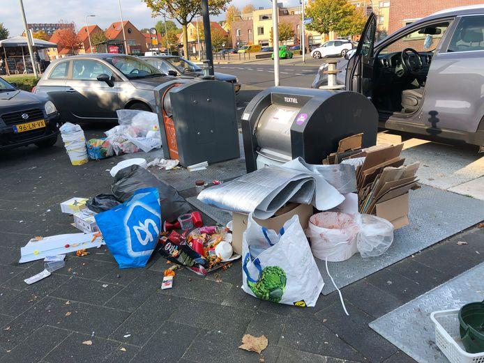 102 euro bedraagt de boete voor Hengeloërs die hun afval naast in plaats van in de container gooien.