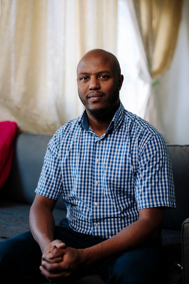 Abraham Foto (39) uit Eritrea. Beeld Marc Driessen